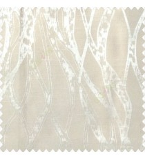 Beige color abstract vertical bold flowing network lines texture river design texture gradients polyester main curtain