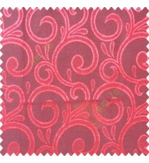 Red black color swirls pattern traditional rain water drop fish semi circles design polyester main curtain