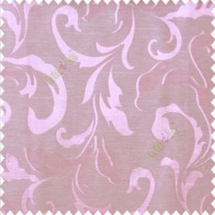 Pink beige color traditional floral big leaf design swirls hanging leaf pattern polyester main curtain