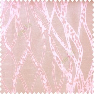 Pink beige color abstract vertical bold flowing network lines texture river design texture gradients polyester main curtain