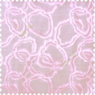 Pink beige color traditional designs geometric circles rings whirl smoke rings shapes  polyester main curtain