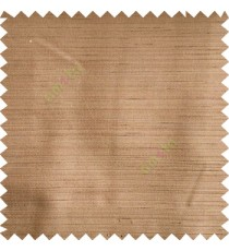 Copper brown color horizontal thin stripes texture finished background polyester base fabric main curtain