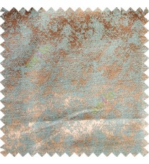 Copper brown blue color texture finished horizontal short lines broken water drops polyester main curtain