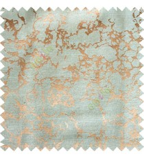 Copper brown blue color texture finished background circles horizontal lines polyester base fabric main curtain