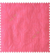 Pink color beautiful floral self-leaf design engraved small leaves on vertical texture lines patterns fabric polyester main curtain