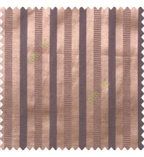 Dark brown grey color bold vertical stripes texture surface horizontal rough lines polyester main curtain
