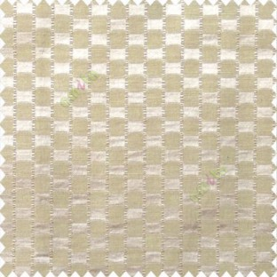 Beige color abstract and geometric concave square designs with vertical digital stripes polyester main curtain