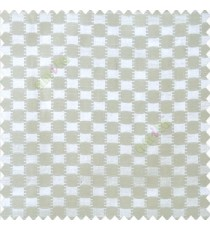 White color abstract and geometric concave square designs with vertical digital stripes polyester main curtain