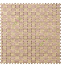 Dark brown beige color abstract and geometric concave square designs with vertical digital stripes polyester main curtain