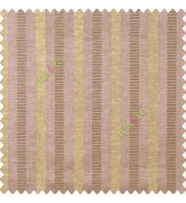 Dark brown beige color bold vertical stripes texture surface horizontal rough lines polyester main curtain