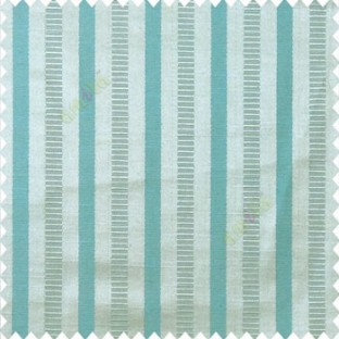 Blue beige color bold vertical stripes texture surface horizontal rough lines polyester main curtain