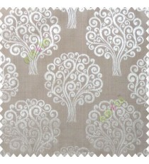 Grey brown color beautiful traditional tree design swirls made tree multi-layers polyester main curtain