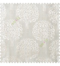 Beige cream color beautiful traditional tree design swirls made tree multi layers polyester main curtain