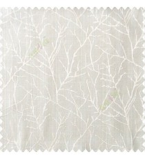 Beige cream color traditional tree pattern complete twigs design branches leafless plants polyester main curtain