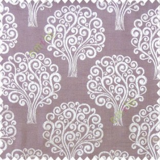 Purple brown grey color beautiful traditional tree design swirls made tree multi layers polyester main curtain