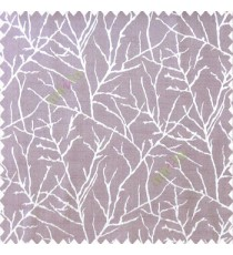 Purple brown grey color traditional tree pattern complete twigs design branches leafless plants polyester main curtain