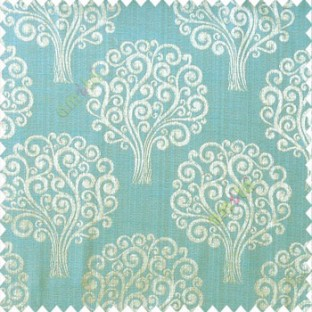 Brown blue grey color beautiful traditional tree design swirls made tree multi layers polyester main curtain