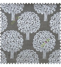Black grey color beautiful traditional tree design swirls made tree multi layers polyester main curtain