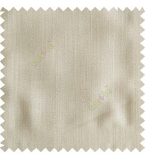 Beige color solid texture finished designless polyester background horizontal lines cotton look main curtain