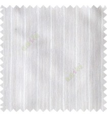 Pure white color vertical stripes texture base cotton finished background with transparent fabric small dots sheer curtain