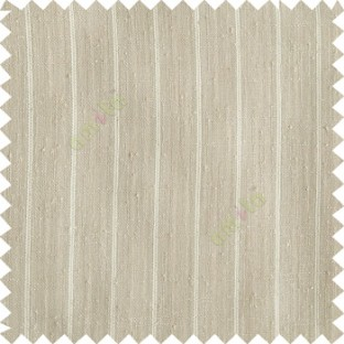Light brown color vertical stripes texture base cotton finished background with transparent fabric small dots sheer curtain