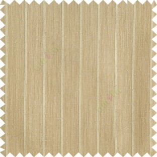 Khaki color vertical stripes texture base cotton finished background with transparent fabric small dots sheer curtain