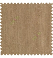 Tawny brown color complete plain texture gradients designless cotton finished horizontal and vertical lines with polyester transparent base fabric sheer curtain