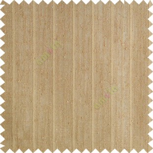 Tawny brown color vertical stripes texture base cotton finished background with transparent fabric small dots sheer curtain