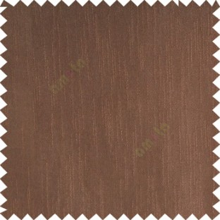 Dark chocolate brown color complete plain vertical texture lines patternless polyester transparent background cotton finished sheer curtain