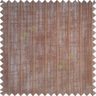 Dark chocolate brown color vertical stripes texture base cotton finished background with transparent fabric small dots sheer curtain