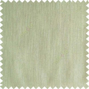 Light green color complete plain vertical texture lines patternless polyester transparent background cotton finished sheer curtain