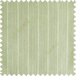 Light  green color vertical stripes texture base cotton finished background with transparent fabric small dots sheer curtain