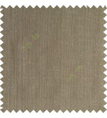 Wood brown color complete plain texture gradients designless cotton finished horizontal and vertical lines with polyester transparent base fabric sheer curtain