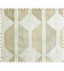 Contemporary diamond hexagon silver brown crush technical polyester main curtain designs