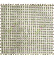 Polka dots pink green peach silver crush technical polyester main curtain designs