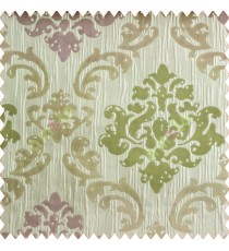 Big damask contemporary pink green peach silver crush technical polyester main curtain designs