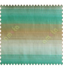 Horizontal stripes gradient aqua blue brown white crush technical polyester main curtain designs