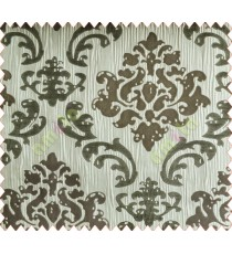 Big damask contemporary grey silver brown white crush technical polyester main curtain designs