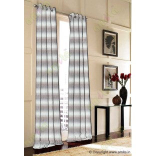 Horizontal stripes gradient grey silver brown white crush technical polyester main curtain designs
