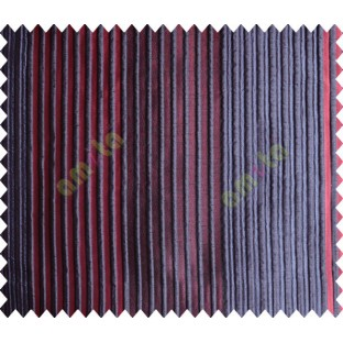 Blue Red Dark Blue Pipe Stripes Main Poly Curtain-Designs