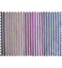 Purple Blue Bright Purple Pipe Stripes Main Poly Curtain-Designs