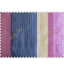 Navy Blue Worm Stripes with Purple Beige Dark Purple Colour Stripes Poly Main Curtain-Designs