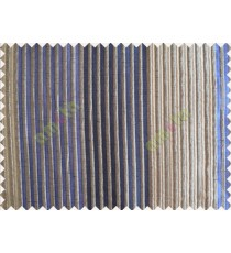 Blue Beige Grey Pipe Stripes Main Poly Curtain-Designs