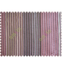 Pink Black Grey Pipe Stripes Main Poly Curtain-Designs