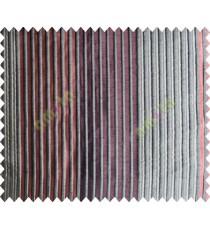 Orange Dark Red Beige Pipe Stripes Main Poly Curtain-Designs - 104162