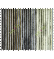 Green Black Beige Pipe Stripes Main Poly Curtain-Designs