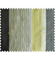 Light Brown Worm Stripes with Green Black Khaki Colour Stripes Poly Main Curtain-Designs