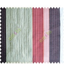 Grey Worm Stripes with Maroon  Colour Stripes Poly Main Curtain-Designs