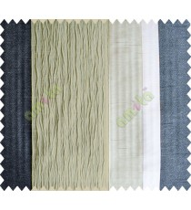 Grey Worm Stripes with Black Colour Stripes Poly Main Curtain-Designs