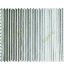 Grey Silver Pipe Stripes Main Poly Curtain-Designs